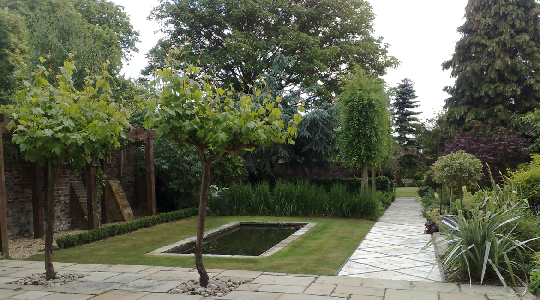 Garden Design Enfield : Walled gardenhadley wood herts amanda broughton garden design